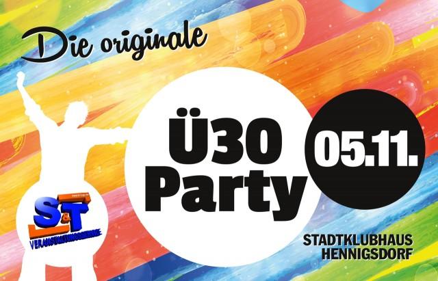 05.11. – DIE ORIGINALE Ü30-PARTY